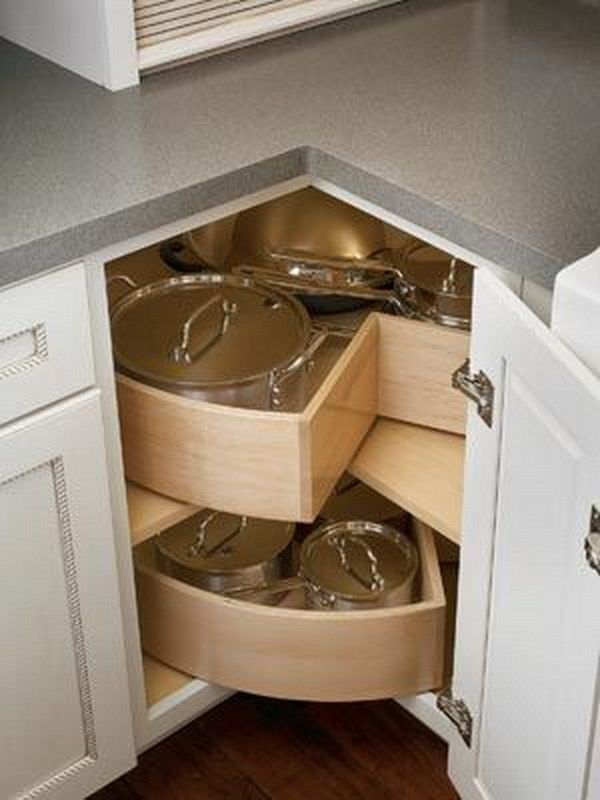 Best Corner Base Cabinet With Deep Bin Lazy Susan Shelves 400 x 300