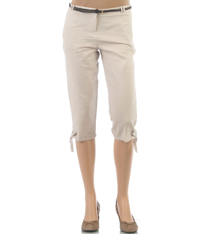 corsaire femme en lin coton pantalons camaieu. Black Bedroom Furniture Sets. Home Design Ideas