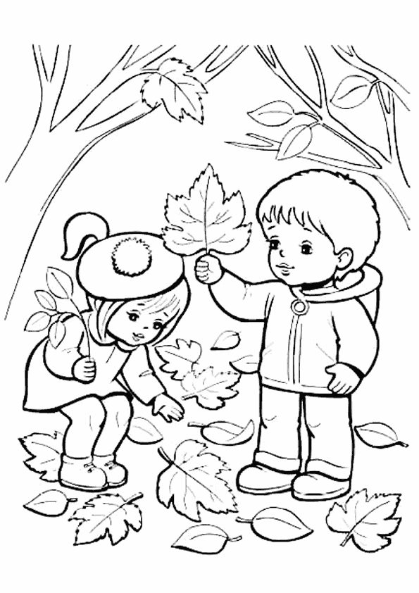 Sonbahar Boyama Sayfasi فصل Fall Coloring Pages Coloring