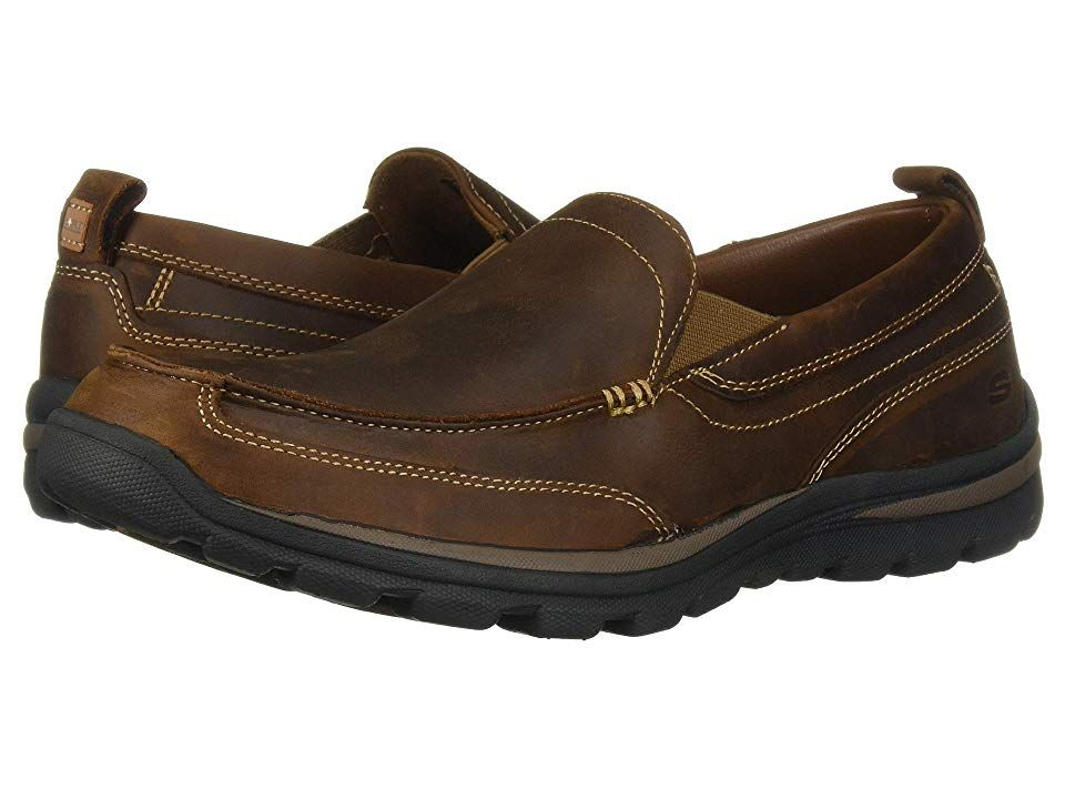 Skechers Relaxed Fit Superior Gains Men S Slip On Shoes Dark