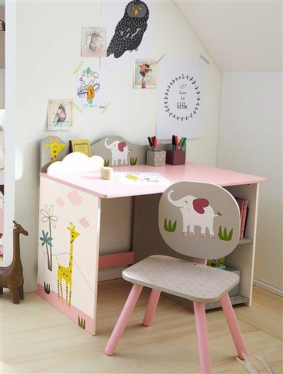 kinder schreibtisch mit elefant rosa inspiration m dchenzimmer pinterest kinder. Black Bedroom Furniture Sets. Home Design Ideas
