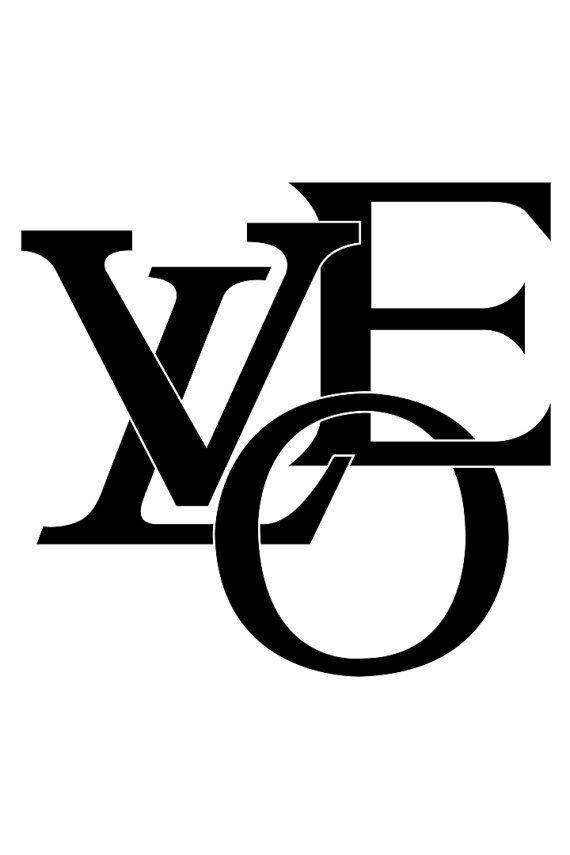 46cf627d428 Louis Vuitton Black and White Monogram Logo by DominaDesignsLA ...