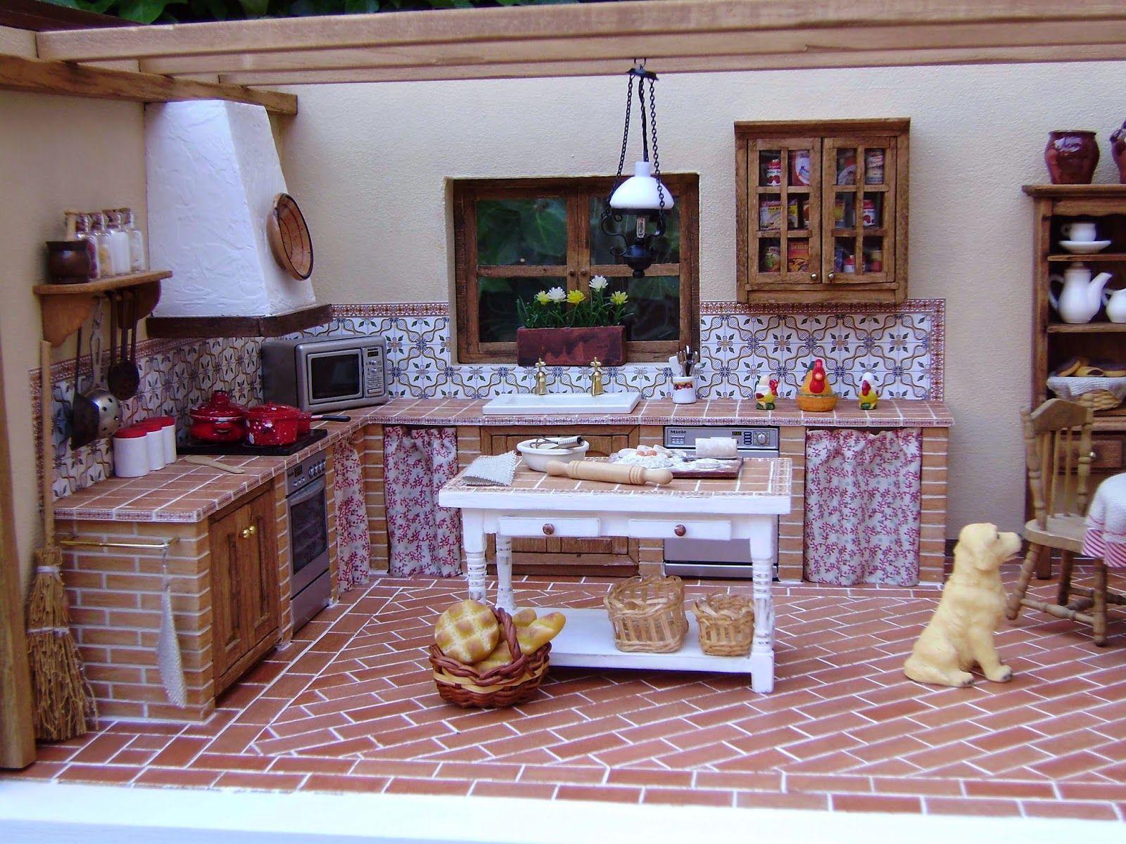 Cocina de obra con dos hogares buscar con google for Cocinas de obra