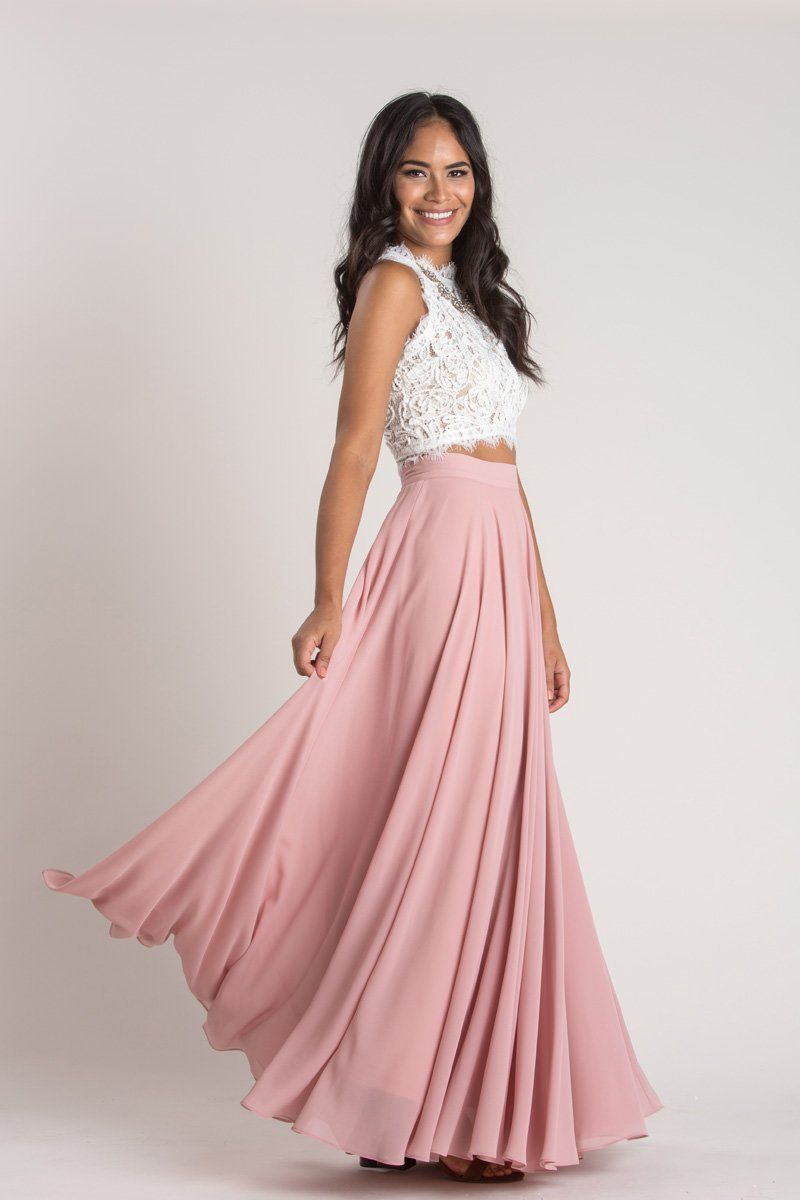 Petite Amelia Full Rose Maxi Skirt | Falda