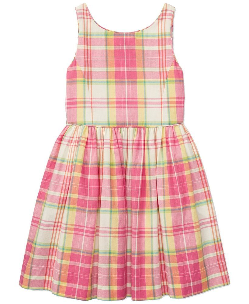 435031d0e206b RALPH LAUREN Polo Girls Plaid Madras Sleeveless Dress 16 NWT #RalphLauren  #ChristmasDressyEverydayHolidayPageantPartyProm