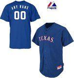 Texas Rangers Full-Button CUSTOM or BLANK BACK Major League Baseball Cool-Base Replica MLB Jersey #sports