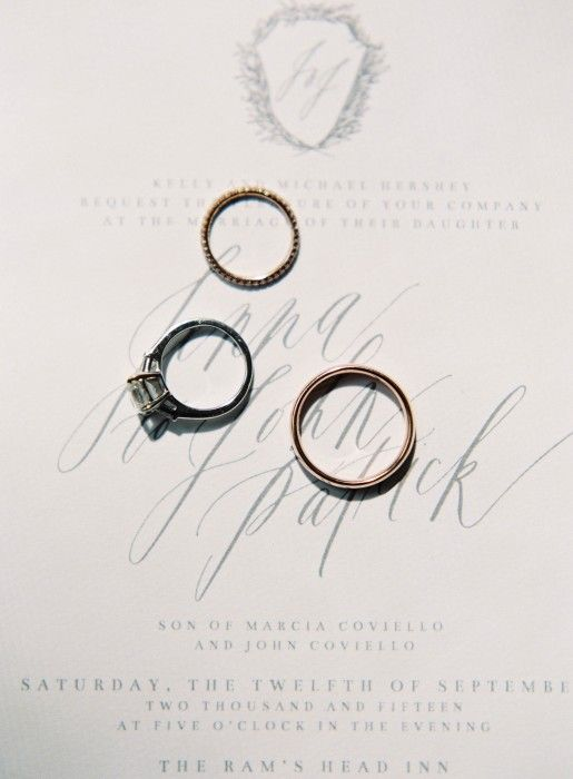 """""""We got our wedding bands from Marisa Perry in the West Village, the same jeweler that JP worked with on my engagement ring."""" -Jenna Hershey 