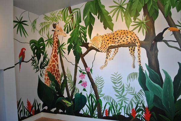 Rainforest murals gallery of jungle murals murals pinterest kinderecke wandmalereien - Babyzimmer jungle ...