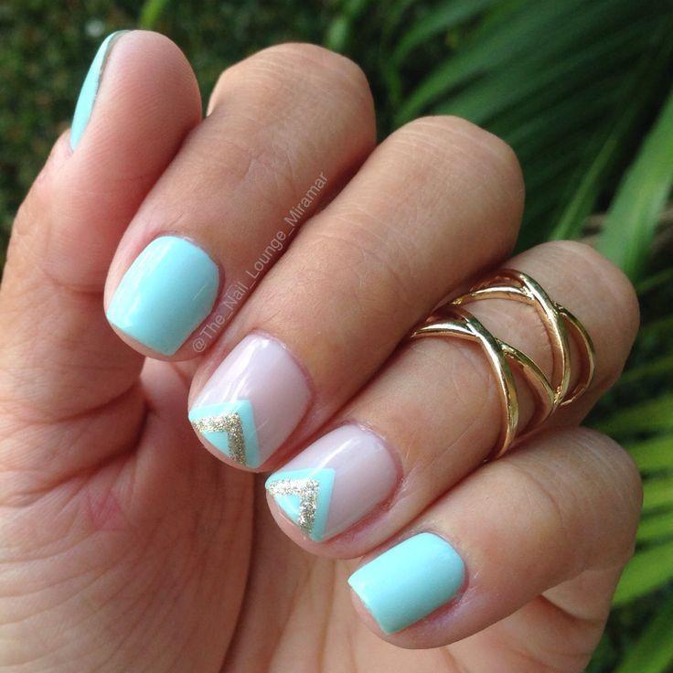 nice Simple mint nail art design...   Gems & Jewellery   Pinterest ...