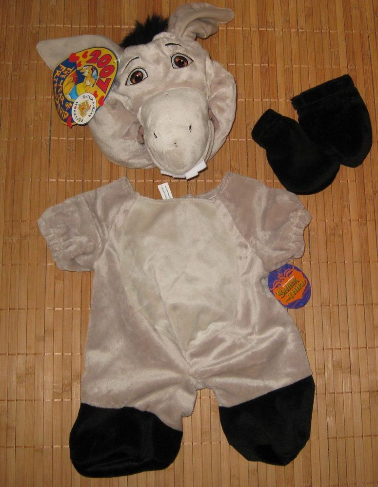 Build A Bear Shrek Donkey 4 Piece Outfit Costume