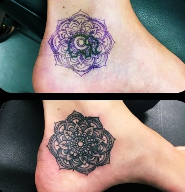 Creative Coverup Tattoo Ideas That Are Borderline Genius Ankle