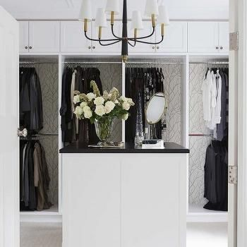 Closet with Chandelier, Transitional, Closet