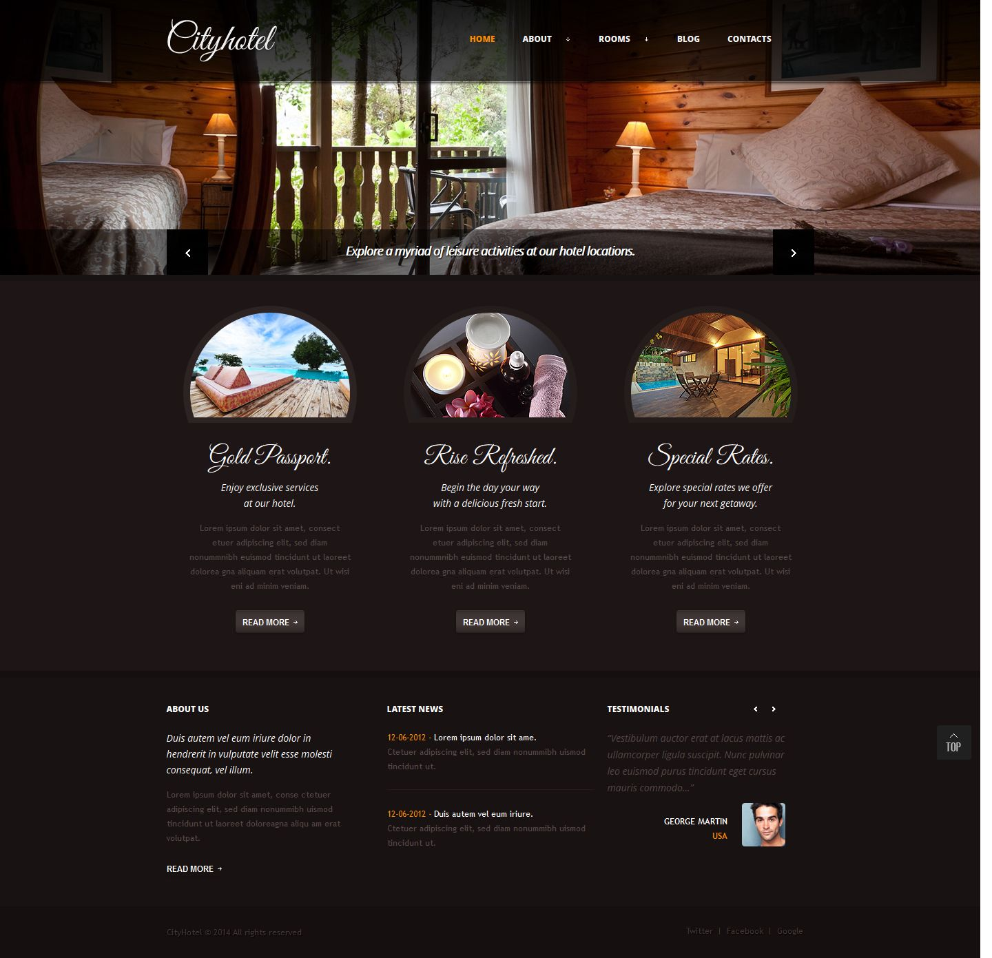 Website Company Profile Template Hotel  Company Profile