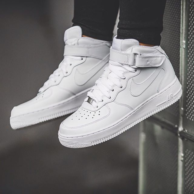 Nike White Air Force 1 High 07 all white. #shoestobuy #mensstyle #urbanstyle