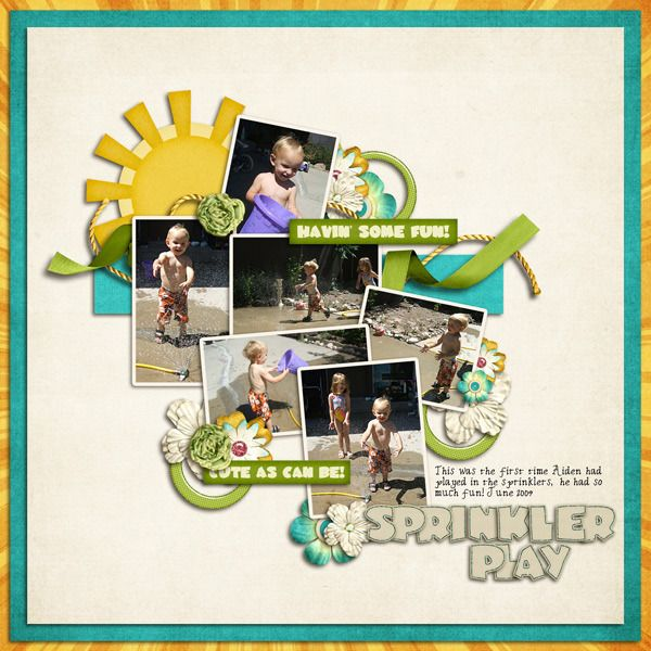 Scrap Stars Inspiration - Summer Lovin' collection. Layout by Bree.