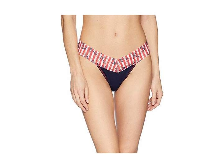fa712c1a2586 Hanky Panky Cotton With A Conscience Original Rise Thong Women's Underwear