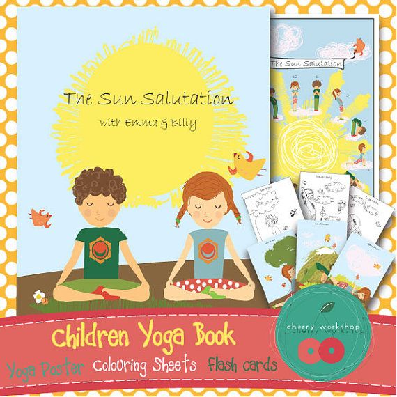 Kids Yoga Book The Sun Salutation With Flashcards Poster And