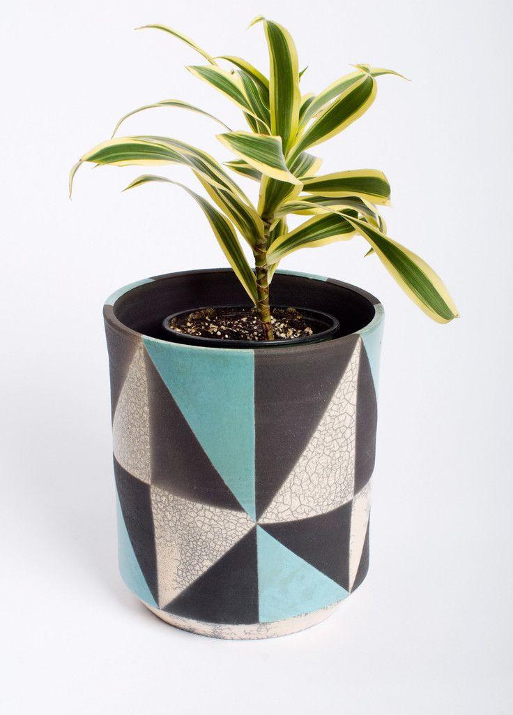 bkb ceramics  glazed ceramic  u0026 39 spectrum u0026 39  planter  2010s