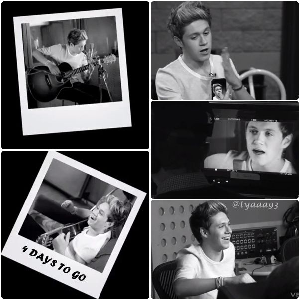 just capture the sneak peek of #LittleThings 4 Days To Go with Niall :)