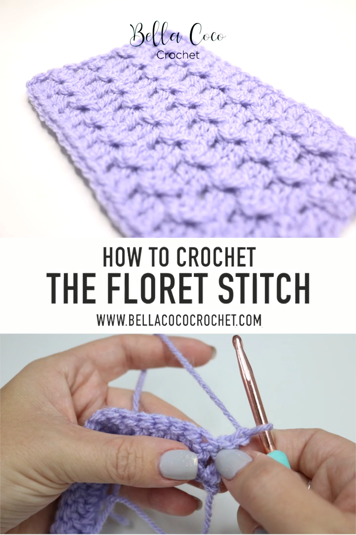 Photo of FREE Floret Stitch video tutorial by Bella Coco Crochet