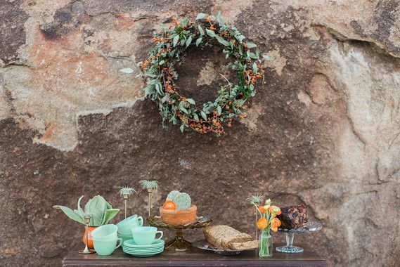 Photo of Bohemian winter desert wedding inspiration
