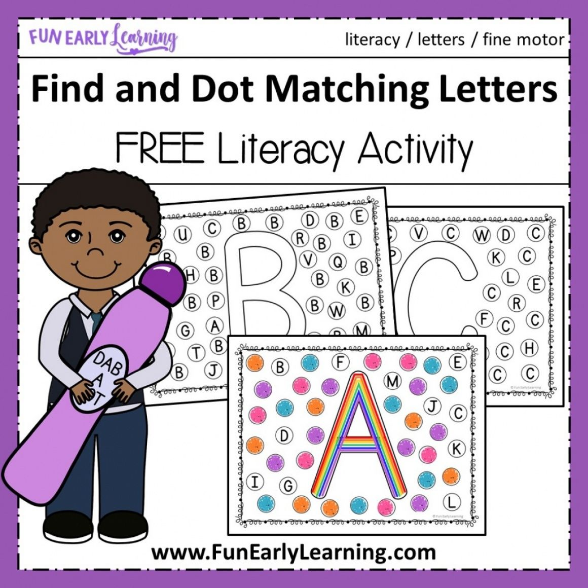 Find And Dot Matching Letters