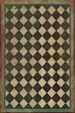 Pattern 9 Checkmate Vintage Vinyl Floor Cloths By Spicher Co