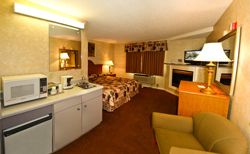 King Mini Suite With Fireplace A Warm Crackling Fire Sets The Mood