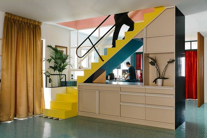 Nadja apartments by Point Supreme Architects /Апартаменты «Надя» в стиле нескучного постмодернизма