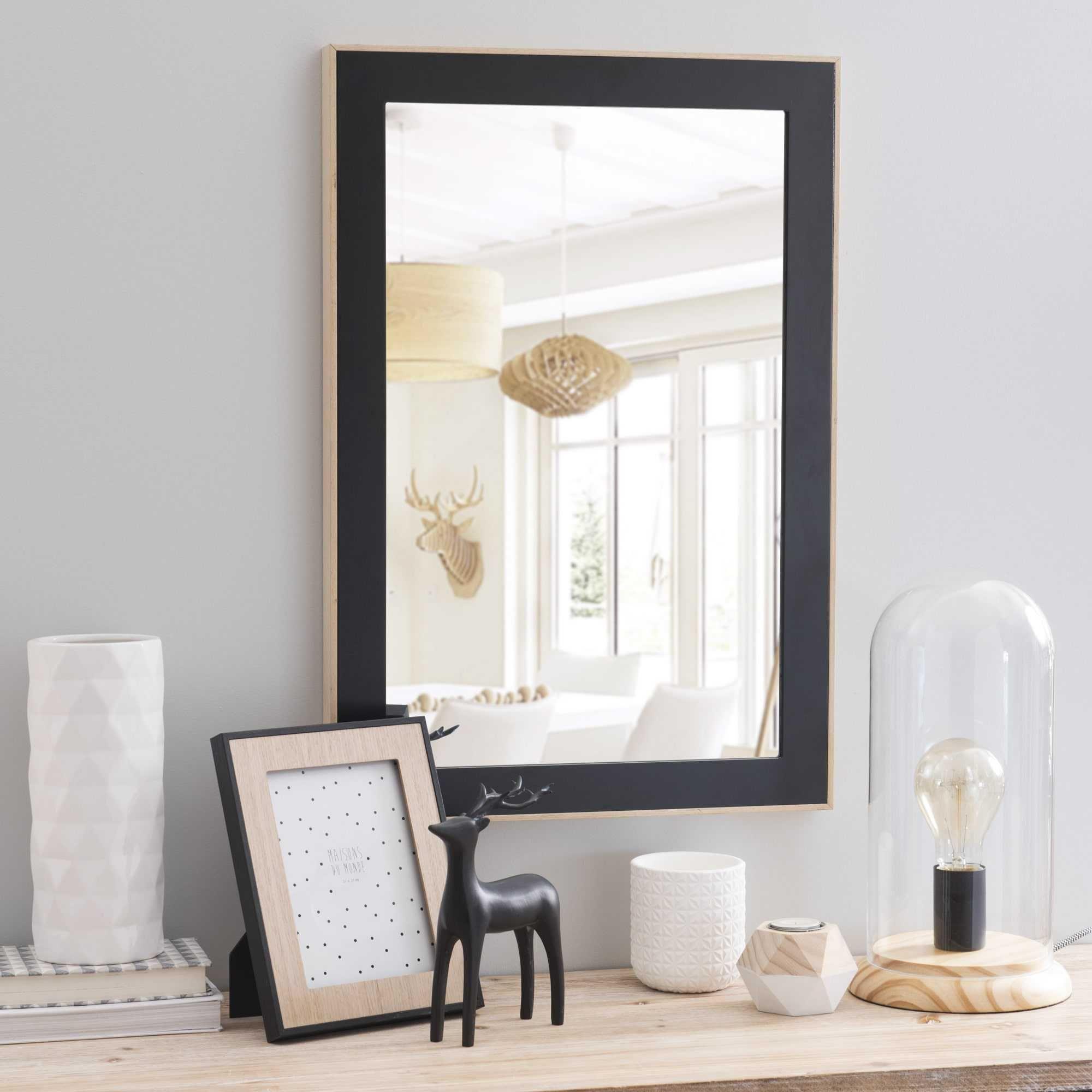 Miroir Noir H 63 Cm Larson Salle De Bain Industry Pinterest