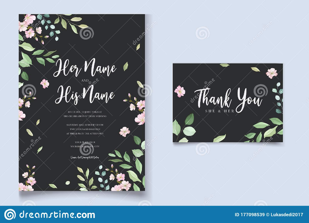Beautiful Floral Wedding Invitation Card Template Stock Vector Ill Floral Wedding Invitation Card Floral Wedding Invitations Wedding Invitation Card Template