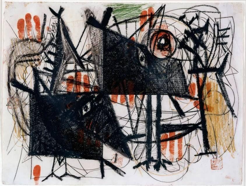 Arshile Gorky - Hitler Invades Poland September 1 1939 - Crayon and sealing ink on paper