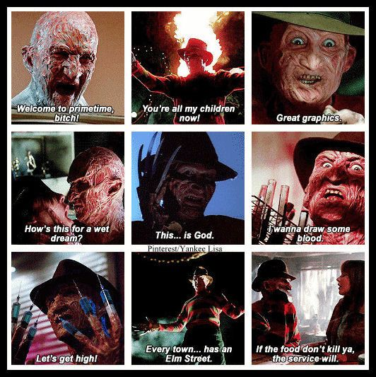 Classic Horror Movie Quotes: Freddy Krueger, Nightmare On Elm Street