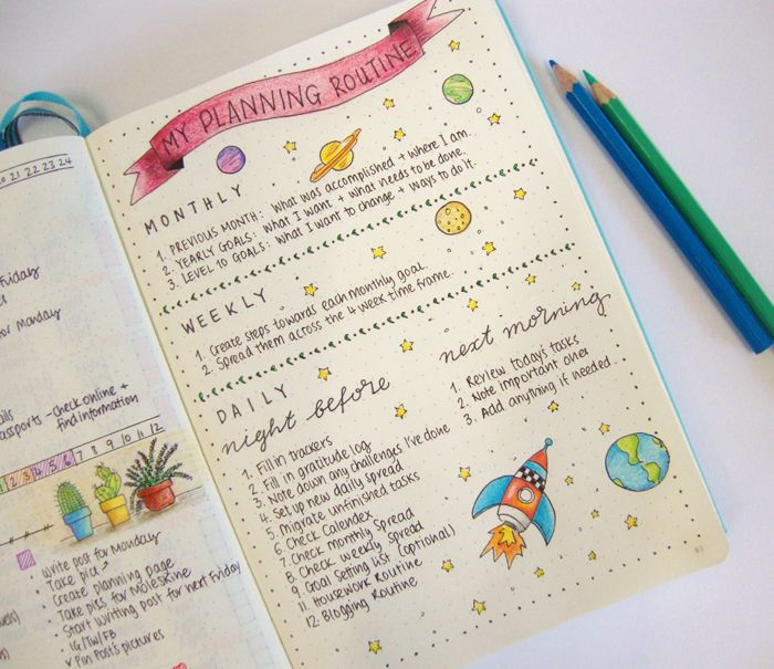 Sharing my monthly, weekly and daily planning routine using my ...