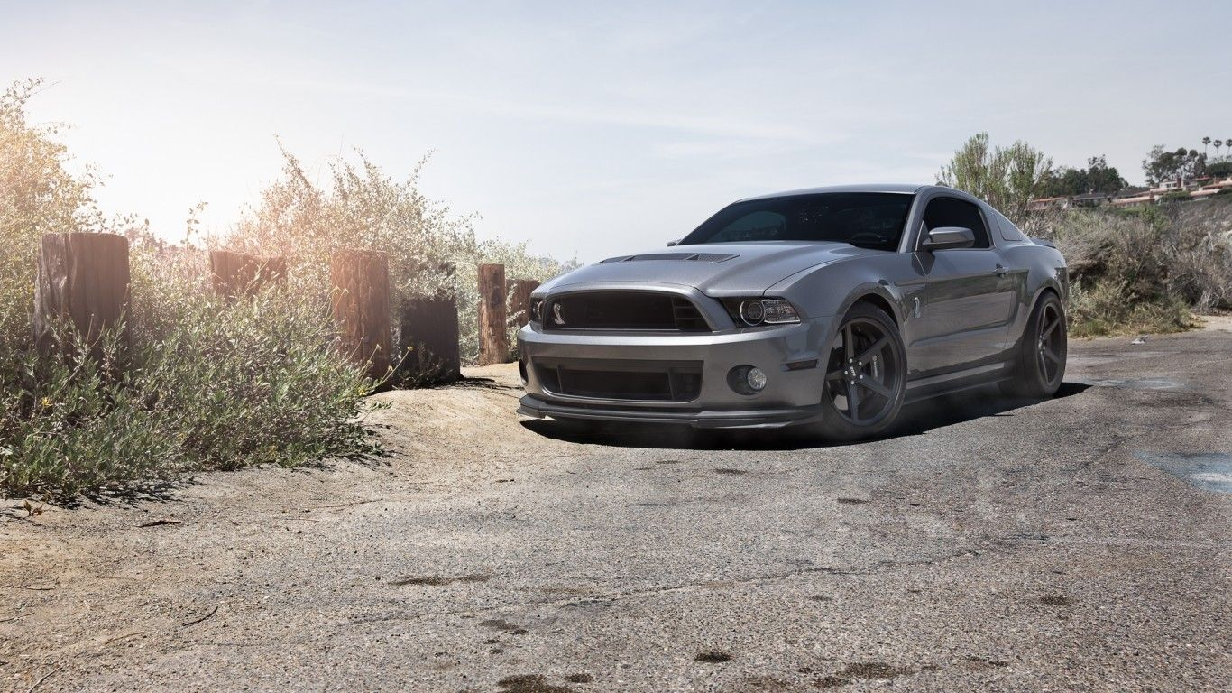 Download Wallpaper Ford Mustang Gt500 Shelby Grey Ford Mustang Shelby Gray Ford Resolution 1366x768 Ford Mustang Gt500 Gt500 Mustang