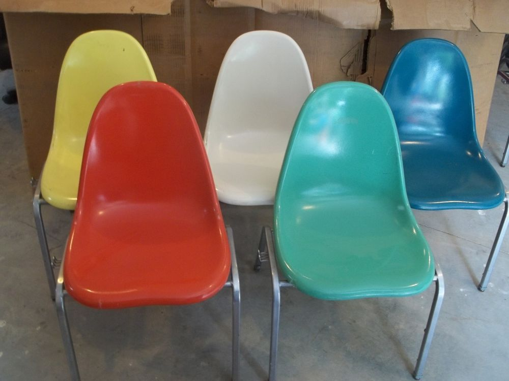 fiberglass shell chairs. lot of 4 eames era fiberglass shell chair you choose color techfab retro kitchen chairs s
