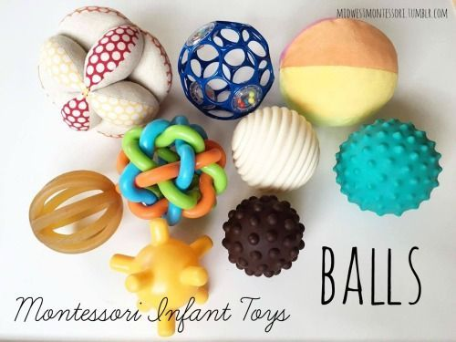 Montessori infant toys: 3-6 months onward
