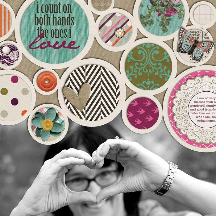 8 idéias para embelezar páginas do scrapbook com círculos - scrapbooking ideias, mantendo a memória, a disposição de projeto