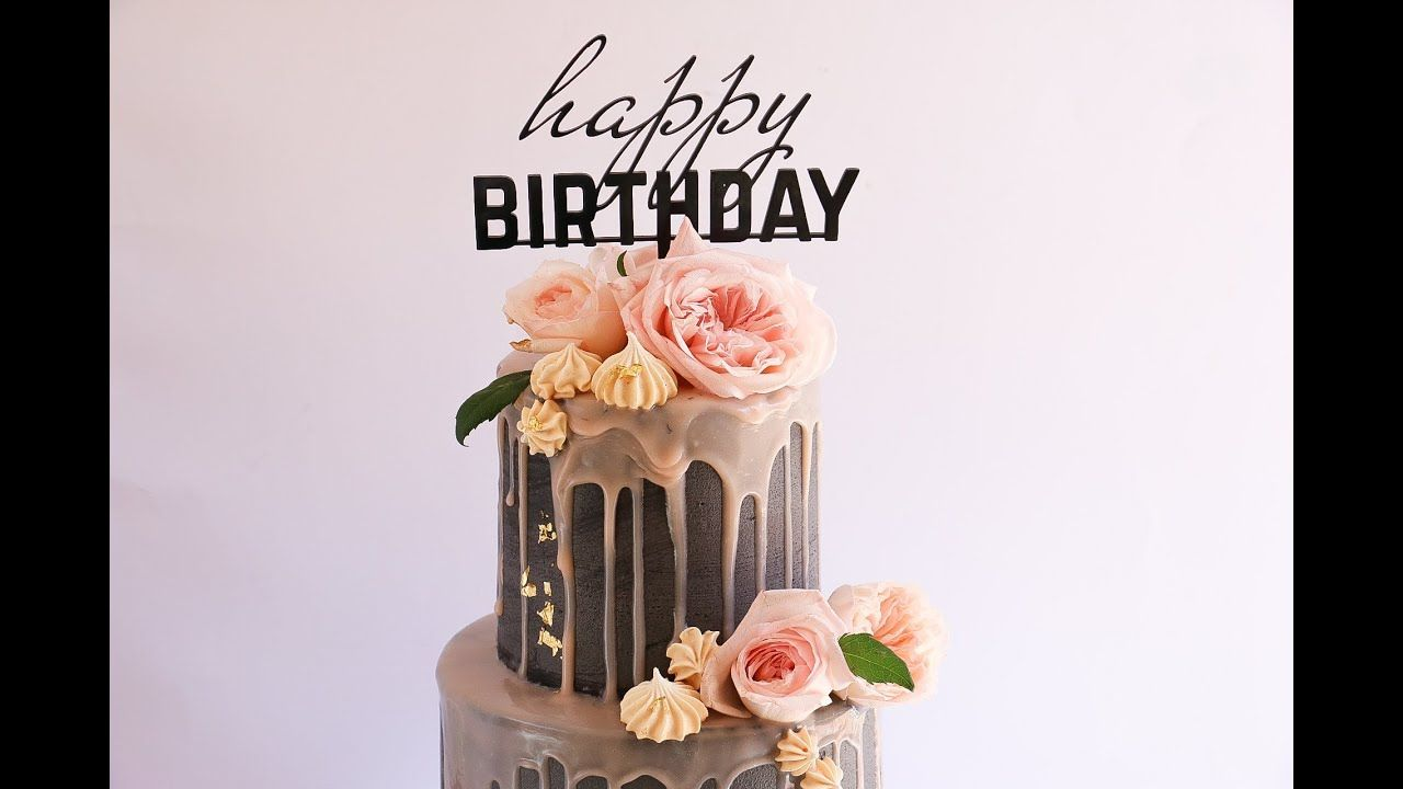 Extra tall two tier drip cake rosies dessert spot with