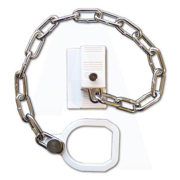 ASEC UPVC Door Chain Restrictor With Ring | Door chains and Doors
