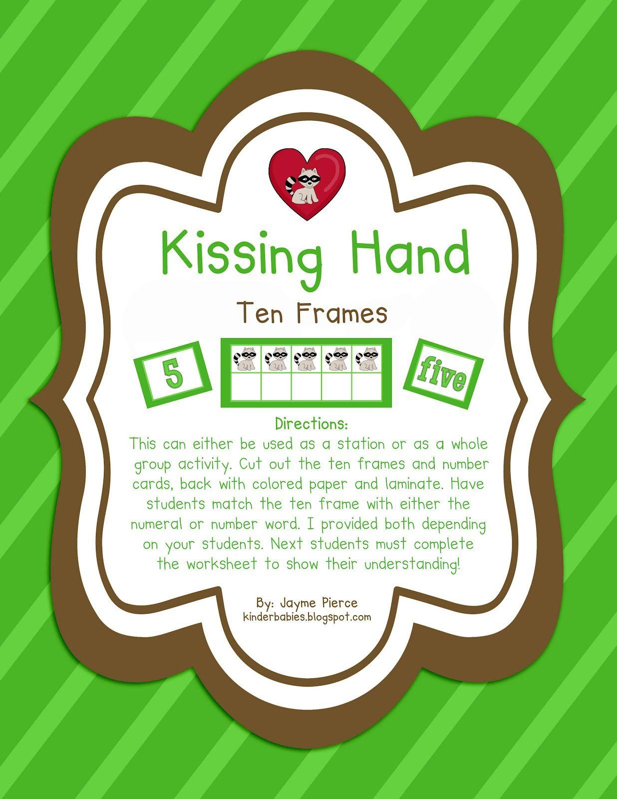 Kissing Hand Ten Frames