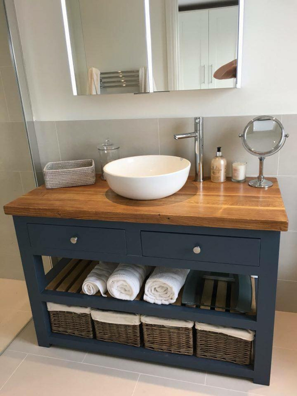 The Monkton Vanity Unit with a Quartz worktop. Made to Order