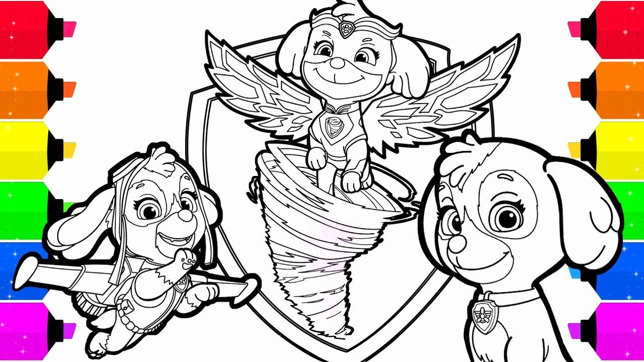 Paw Patrol Skye Coloring Page Inspirational Paw Patrol Mighty Pups