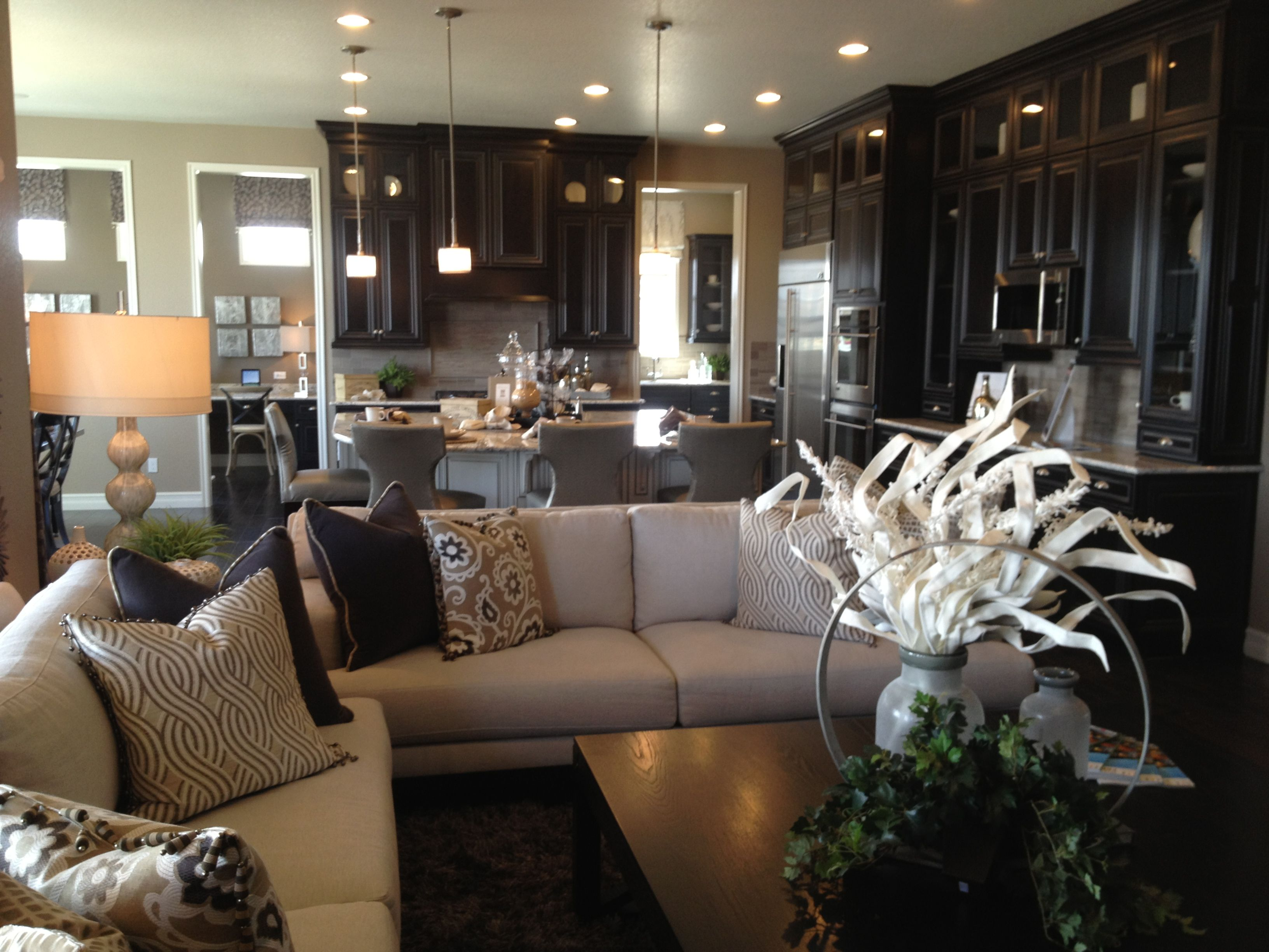 Dream Kitchen With Dark Cabinets Great Open Concept Open To The