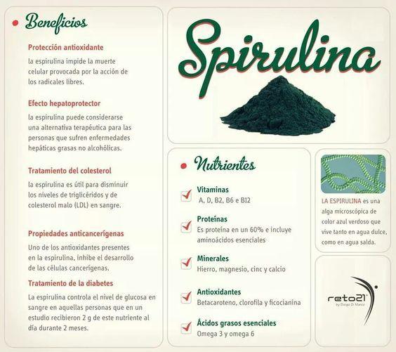 La Espirulina Y Sus Potentes Beneficios En La Salud Espirulina Beneficios Espirulina Tips Nutricion