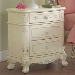 TRIBECCA HOME Fairytale Victorian Princess White End Table