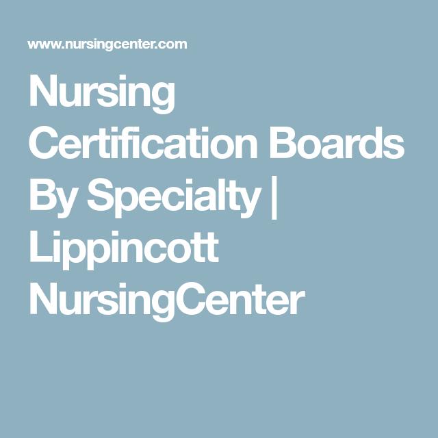 nursing boards certification nurse nursingcenter certifications