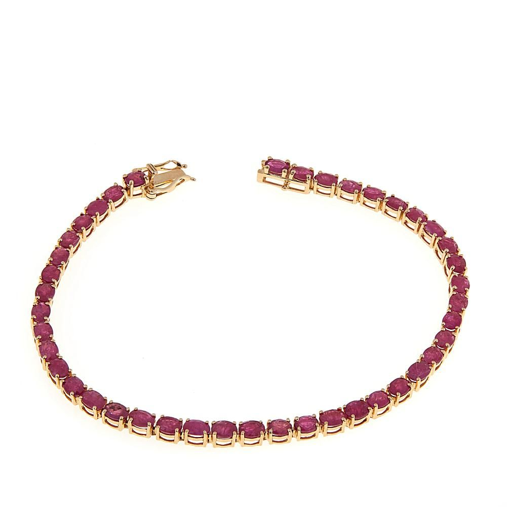K gold mozambique ruby line bracelet yellow products