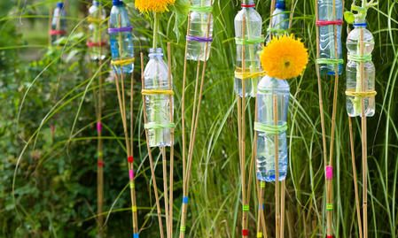Photo of Decoration for the garden party: Sunflower torches very homemade – THE HOUSE