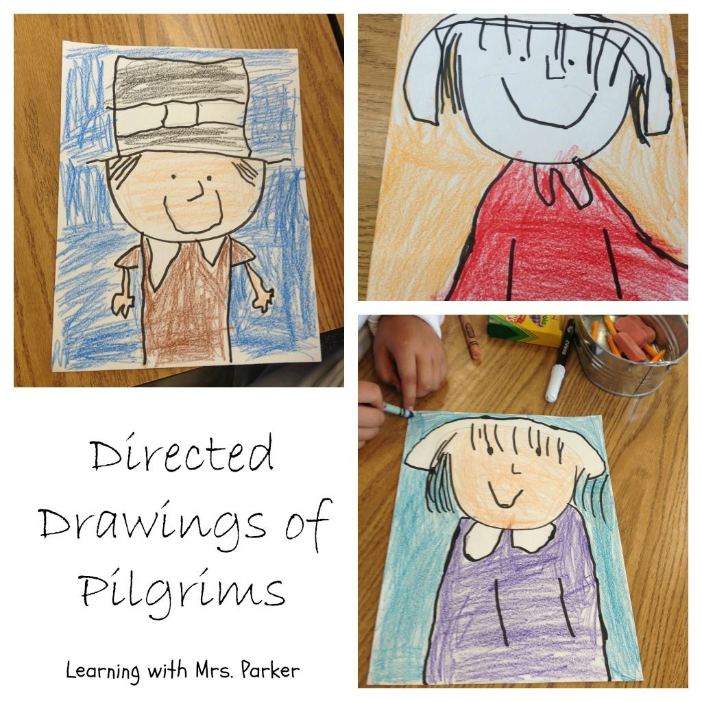 Learning With Mrs Parker Directed Drawings Of Pilgrims